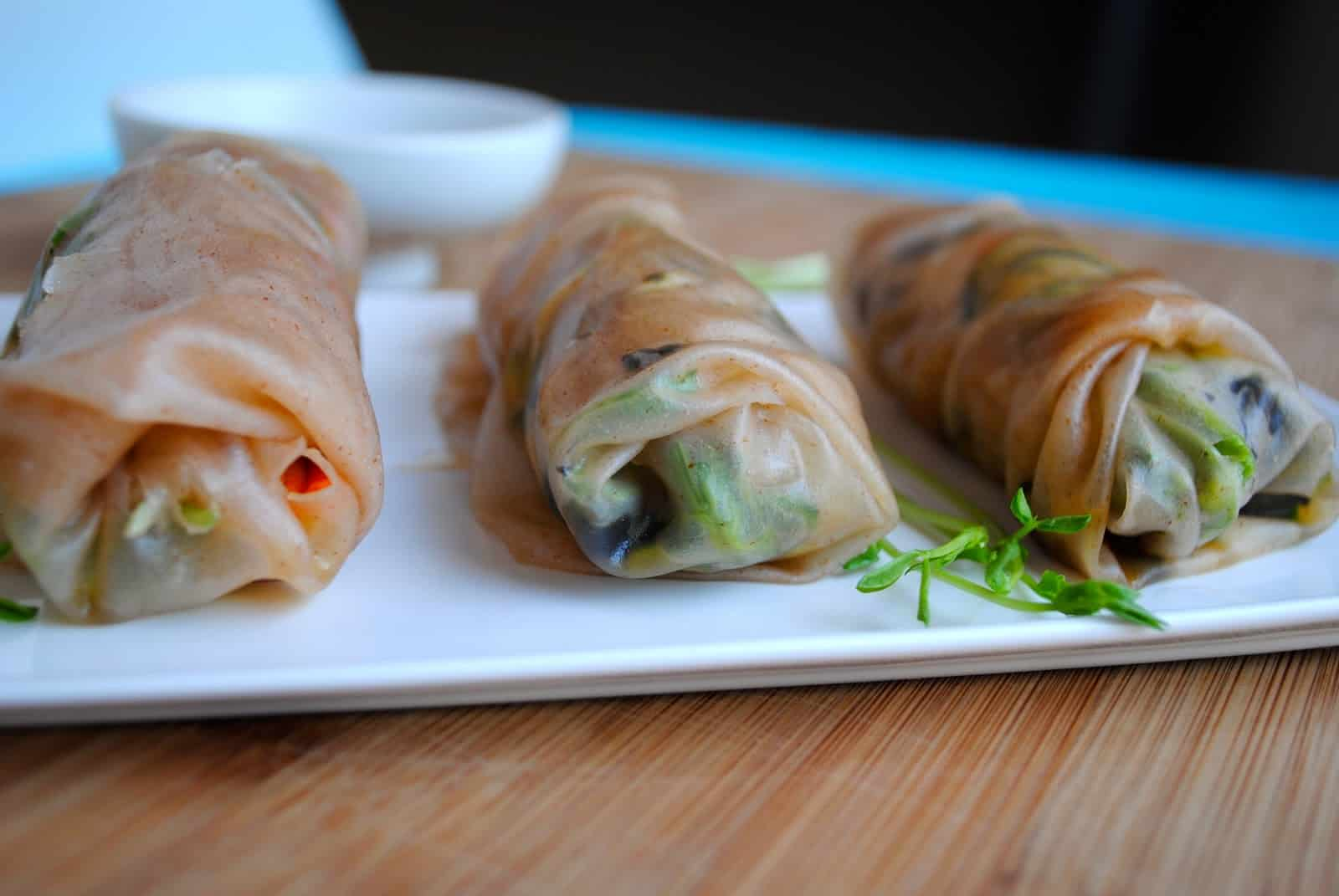 Raw Vegetable Spring Rolls