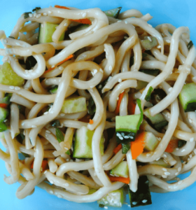 Cold Udon Salad: Back To School Vegan Lunchbox