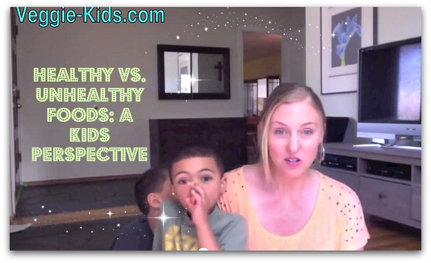 Healthy Foods vs. Non-Healthy Foods: A Kids Perspective (Video)