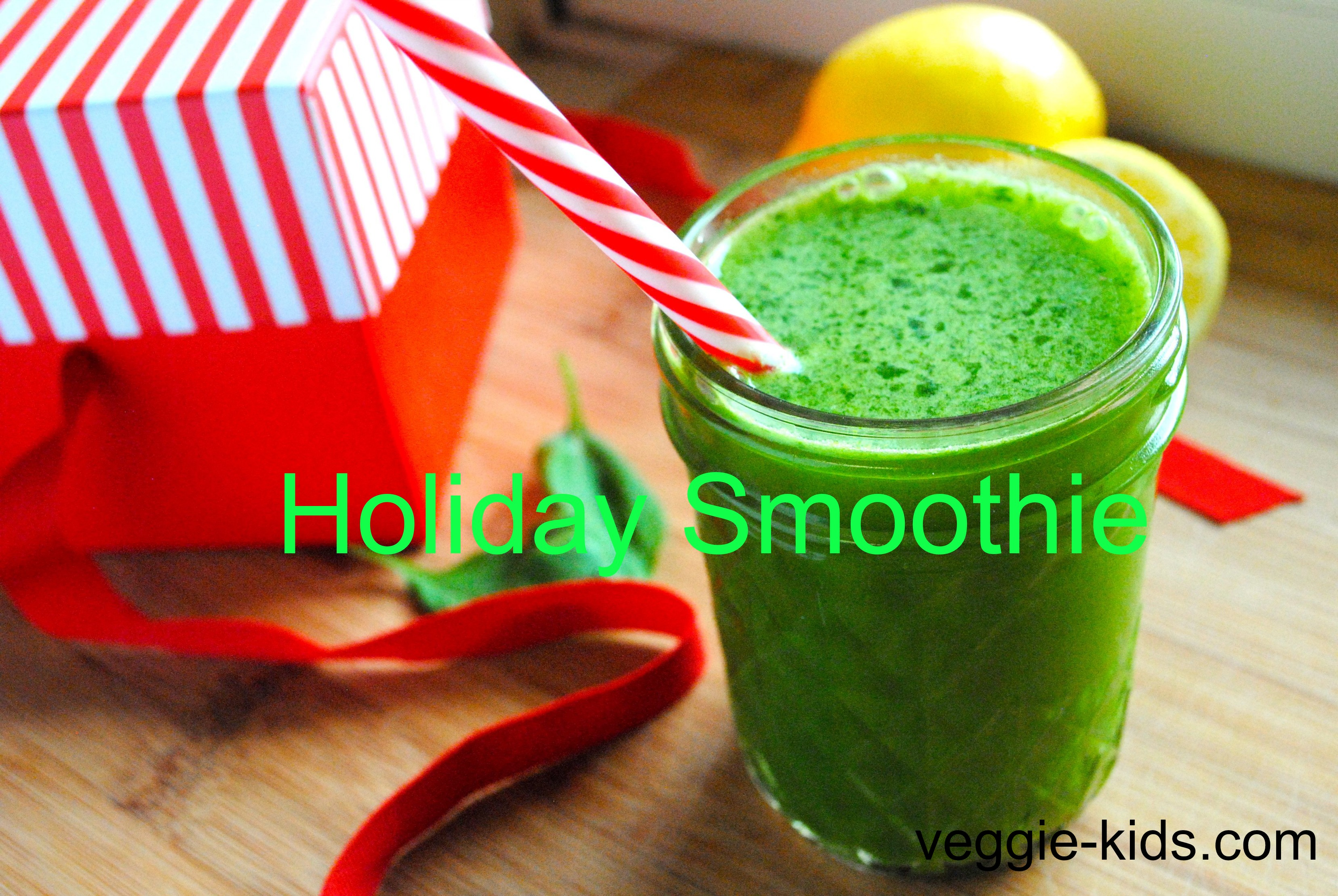 Christmas Green Basil Smoothie